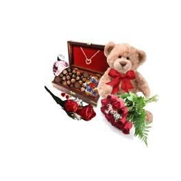 As beautiful as a rose gourmet gift basket