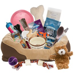 For the forever faithful- dog gift basket (Deluxe)