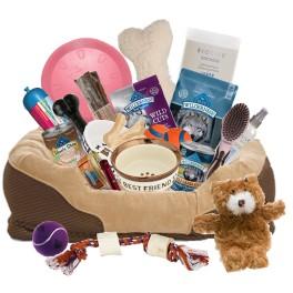 the forever faithful- dog gift basket (Deluxe)