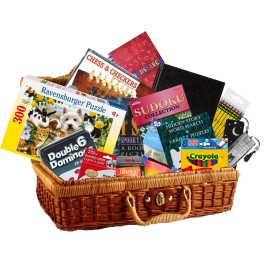 Brain teaser activity gift basket (regular)
