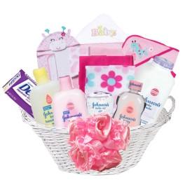 Johnson baby shower basket- girl