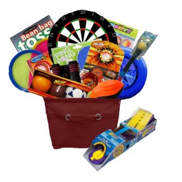 Games and recreation gift basket