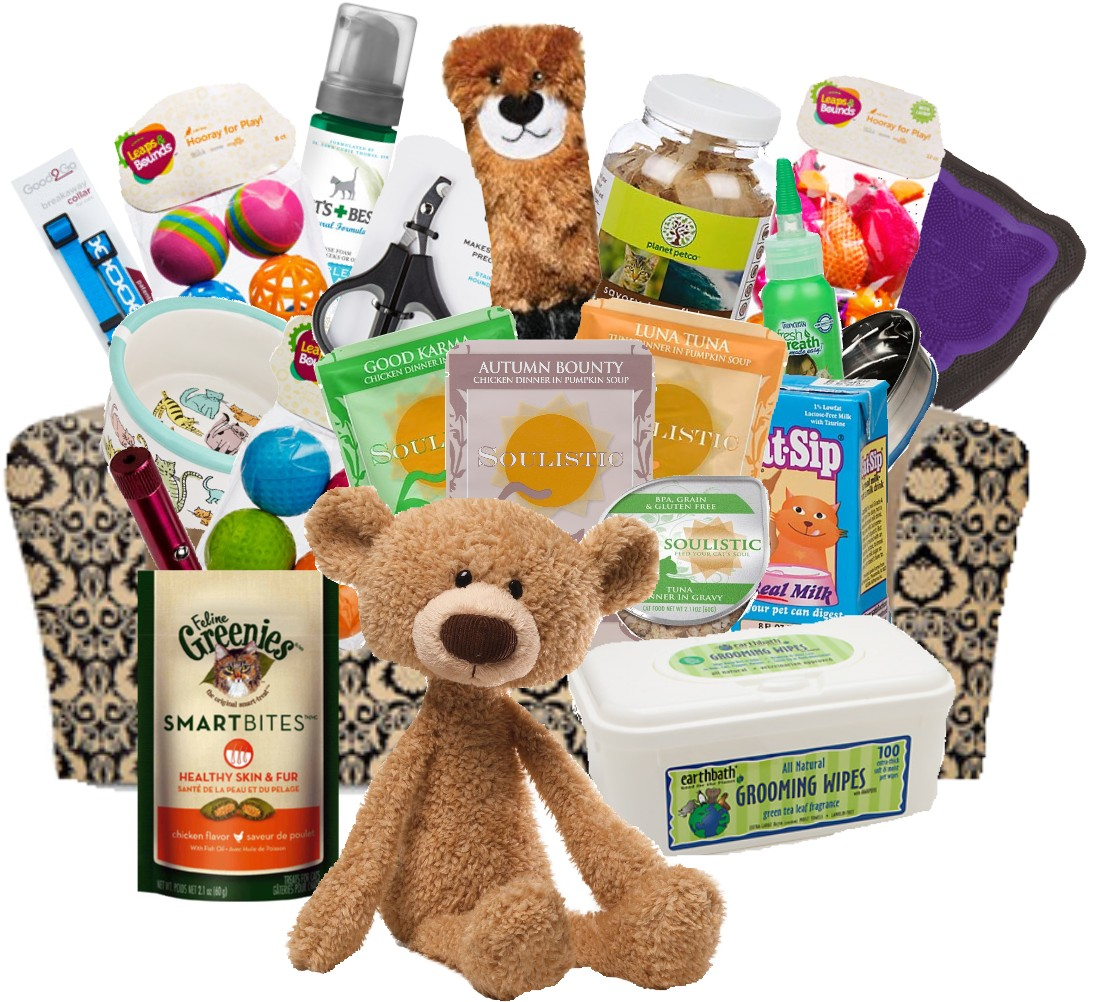 Happiness And Comfort Cat Gift Basket Deluxe